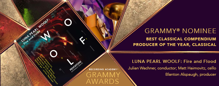 Broadway World | LUNA PEARL WOOLF: Fire and Flood Nominated for 2021 GRAMMY Award